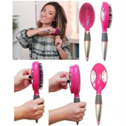 vecceli Italy SCB-100PNK Self Cleaning Hair Brush44; Pink
