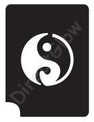 Ying Yang 1011 Body Art Glitter Makeup Tattoo Stencil- 5 Pack