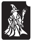 Wizard 1004 Body Art Glitter Makeup Tattoo Stencil- 5 Pack