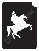 Pegasus 1021 Body Art Glitter Makeup Tattoo Stencil- 5 Pack