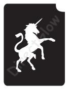 Unicorn 1017 Body Art Glitter Makeup Tattoo Stencil- 5 Pack