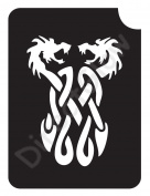 Dragon Serpents 1004 Body Art Glitter Makeup Tattoo Stencil- 5 Pack