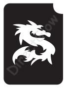 Dragon 1015 Body Art Glitter Makeup Tattoo Stencil- 5 Pack