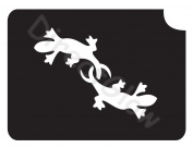 Twin Geckos 1003 Body Art Glitter Makeup Tattoo Stencil- 5 Pack