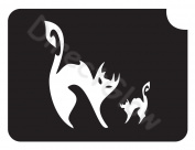 Cats 1008 Body Art Glitter Makeup Tattoo Stencil- 5 Pack