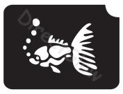 Fish 1003 Body Art Glitter Makeup Tattoo Stencil- 5 Pack