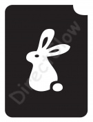 Rabbit 1001 Body Art Glitter Makeup Tattoo Stencil- 5 Pack