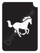 Horse 1005 Body Art Glitter Makeup Tattoo Stencil- 5 Pack