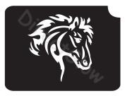 Horse 1001 Body Art Glitter Makeup Tattoo Stencil- 5 Pack