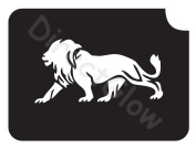Lion 1008 Body Art Glitter Makeup Tattoo Stencil- 5 Pack