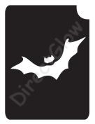 Bat 1006 Body Art Glitter Makeup Tattoo Stencil- 5 Pack
