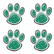 Green Glitter Paw Print Temporary Tattoo by Shindigz