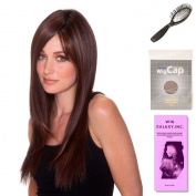 (4 Item Bundle) - (#BT-6013) Straight Press 23 by Belle Tress, Wig Brush, Booklet and a Free Wig Cap Liner.