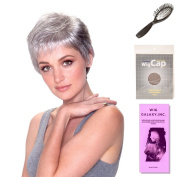 (4 Item Bundle) - (#BT-6026) Feather Lite Mono (Partial) by Belle Tress, Wig Brush, Booklet and a Free Wig Cap Liner.