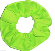Lime Green Cotton Fabric Hair Scrunchie Handmade by Scrunchies by Sherry