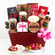 Tiare Roses for You Valentines Day Spa Gift Basket