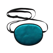 UZZO Pirate Eye Patch,No Leakage Smooth Soft and Comfortable Elastic Silk Eye Patch for Kids, Children Lazy Eye Amblyopia Strabismus,Blue