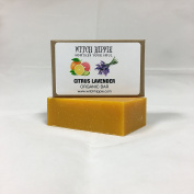 CITRUS LAVENDER 120ml ORGANIC SOAP BAR BY WITCH HIPPIE
