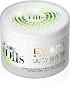 Eveline Cosmetics Amazing Oils Pistachio Body Butter, lotion, cream for Dry and Dehydrated or Irritated Skin with Urea, Coconut oil, Inca inchi oil and Marula oil 200 ml