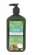 Tea Tree & Coconut Body Lotion 530ml (Paraben FREE) with Pump by Mina Organics. Factory Fresh!