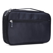 Cosmetic Bag Nylon Quality Zipper Portable Black Makeup Brush Bag for Women Brush Holder Makeup Box