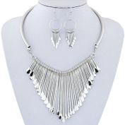 Necklace, Hatop Luxury Womens Metal Tassels Pendant Chain Bib Necklace Earrings Jewellery Set