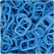 BEADTIN True Blue Neon Bright 25mm Plastic Soda Pop Tabs
