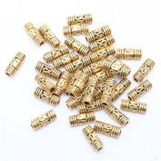 100pcs Tibetan Gold Column Shaped Design Spacer Beads Finding Jewellery Making DIY