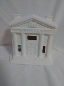 Village Library 13cm ready to paint ceramic bisque