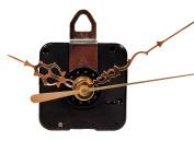 Creative Hobbies Quartz Clock Motor Movement, C91MQM, 1.6cm Max Dial Thickness, 1.7cm Threaded Shaft Length, Complete Kit