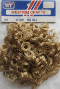 WESTRIM Crafts 1 PACK of 20 Grammes (.210ml) CURLY DOLL HAIR Colour BLONDE