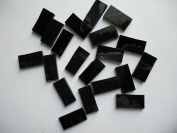 FortySevenGems 50 Pieces Black Stained Glass Mosaic Border Tiles 1.3cm x 2.5cm