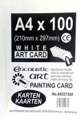 Encaustic Art White Painting Card 100 A4 Sized Cards 21cm x 30cm 99537300