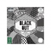 Premium Craft Cardstock First Edition Black Out 6x6 Scrapbook Papers