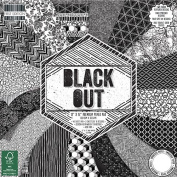 Premium Craft Cardstock First Edition Black Out 12x12 Scrapbook Papers