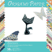 Origami Paper Set - 120 Sheets - Traditional Japanese Folding Papers including Floral, Animal Prints, Aztec, Geometric - Create Flowers, Crane, Owl, Dragon, Animals - Origami papers for Kids & Adults