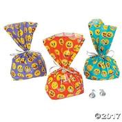 Emoji Cellophane Bags - 12 ct
