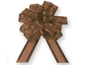 Nashville Wraps Sheer Gift Pull Bow with Satin Edge 12 Count - 10cm - Brown