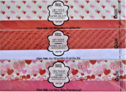 Valentine Tissue Paper Gift Wrapping Pink Red Hearts, 3-pk Set