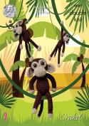 King Cole Amigurumi Crochet Double Knitting Pricewise DK Pattern Monkey Chimps Toys