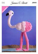 James Brett Flutterby Chunky Crochet Pattern Flo the Flamingo Fun Animal Toy