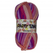 James Brett Party Time Chunky Knitting Yarn 100g Ball 100% Premium Acrylic
