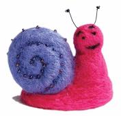 Felting kit Charivna mit #B-08 Snail smile 6x7.5 cm / 2.36x2.76 in