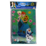 "Disney ""Frozen"" A5 Writing Notebook with 3D Lenticular Moving Cover - 120 Pages"