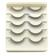False Eyelashes, Emubody 5 Pair Handmade Natural False Eyelashes