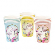 Talking Tables TSFLAMINGO-CUP 270ml Truly Flamingo Cup (12 Pack), Multicolor