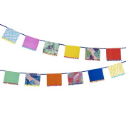 Talking Tables FST4-POMPOMBUNT 4m Paper Garland With Fabric Pomp Pomp Detail, Multicolor