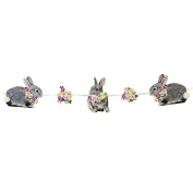 Talking Tables TSBUNNY-BUNTING 2.5m Truly Bunny Garland, Multicolor