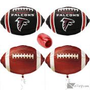 NFL Atlanta Falcons Football Super Bowl Mylar 4pc Balloon Pack, Red Black White