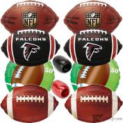 NFL Atlanta Falcons Football Ultimate Mylar 10pc Balloon Pack, Red Black White